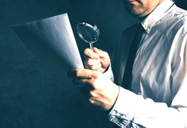 Tax inspector doing financial auditing