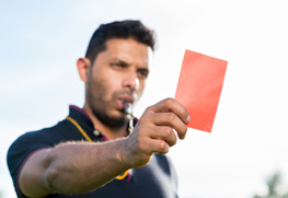 Showing penalty card